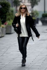Amanda Holden Pictured leaving Global Radio in London