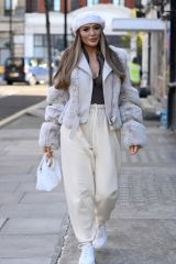 Frankie Sims and Demi Sims seen in Fitzrovia heading for Harleyh Street