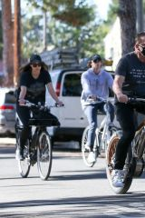 Arnold, Patrick & Christina Schwarzenegger Enjoying a morning bike in Santa Monica