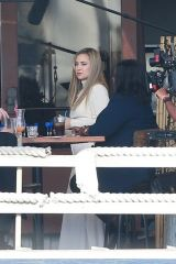 Kate Hudson & Octavia Spencer Filming at a local eatery in Marina Del Rey