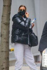 Irina Shayk Seen exiting her apartment to run errands