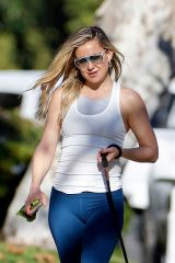Kate Hudson Walking her dog out in Pacific Palisades