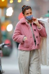 Helena Christensen Seen leaving a dry cleaner in New York City