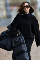 Myleene Klass Seen heading to the Dancing On Ice practice in London