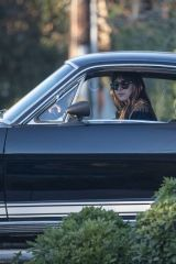 Dakota Johnson Out cruising in her awesome GT 350 in Malibu