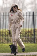 Anna Friel Pictured out with friend in Windsor walking her dod