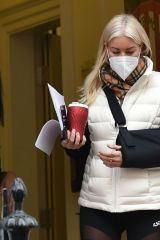 Denise Van Outen Seen leaving a medical clinic in London