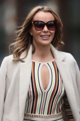 Amanda Holden Leaving Heart Radio Studios in London