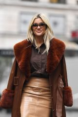 Ashley Roberts Outside the Global Radio Studios in London