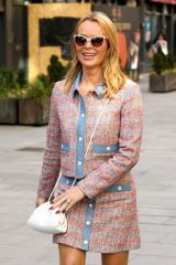 Amanda Holden Outside Heart Radio in London