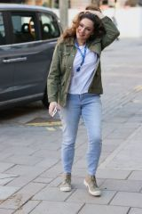 Kelly Brook Seen at the Global Radio studios in London