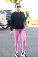 Lucy Hale Going to a gym in LA