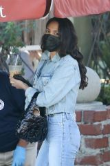 Eiza Gonzalez At a restaurant in Los Angeles