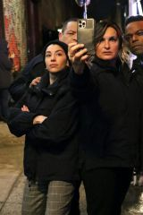 Mariska Hargitay On the set of 'Law and Order: Special Victims Unit' in Chelsea, New York