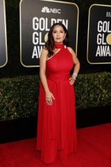 Salma Hayek At 78th Annual Golden Globe Awards