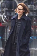 Michelle Dockery On set of 'Anatomy of a Scandal' in Central London