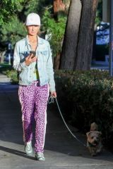 Lady Victoria Hervey Goes for a golden hour walk with her dog in West Hollywood