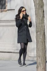 Famke Janssen Seen taking a stroll in New York