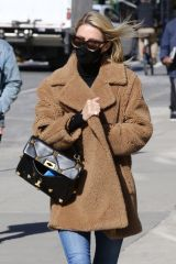 Nicky Hilton Looks stylish in a brown teddy bear coat while out on a cold day around Manhattan's Soho area