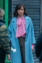 Cush Jumbo On the set of 'Stay Close' in Manchester