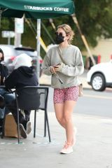 Lucy Hale At Starbucks in LA