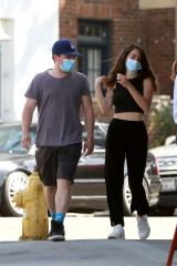 Josh Hutcherson & Claudia Traisac Takes a walk to get a morning coffee in Los Feliz