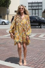 Heidi Klum Looks stunning in summer dress ahead of AGT taping in Los Angeles