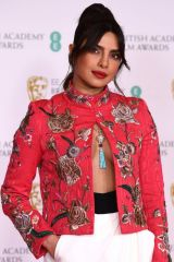 Priyanka Chopra Attending the BAFTA Film Awards at Royal Albert Hall in London