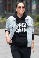 Myleene Klass Seen arriving at Global Studios, Smooth FM in London