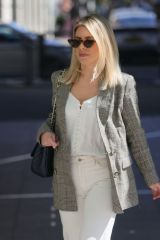 Mollie King Outside the BBC Radio studios in London
