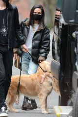 Jennifer Connelly Out in New York with her dog