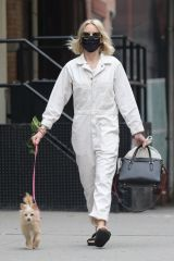 Naomi Watts Walking her dog in TriBeCa