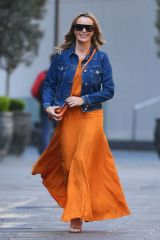 Amanda Holden Leaving the Global Radio Studios in London