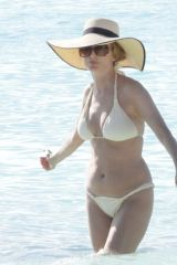 Heather Graham In a bikini at a beach in Tulum