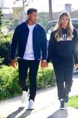 "Ciara and Russell Wilson Hold Hands On Set of NBC's ""Roll Up Your Sleeves"""
