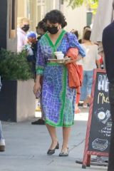 Alia Shawkat Grabs a cup of coffee during an afternoon in Los Feliz