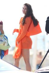 Teodora Djuric Dresses up in a Designer Dress while doing a Fashion Photoshoot in Santa Monica