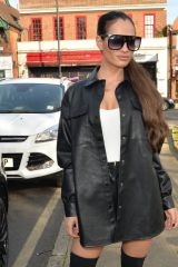 Nicole Bass Seen arriving at The Standard roof bar