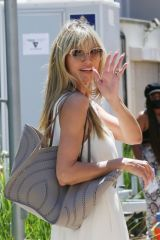 Heidi Klum All smiles arriving at America's Got Talent taping in Los Angeles