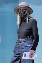 Diane Keaton Takes a break from filming and is seen leaving doctor appointment at Cedars-Sinai in Beverly Hills