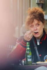 Susan Sarandon Steps out on mothers day in New York
