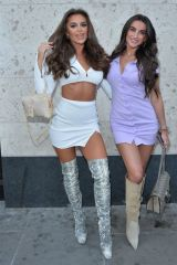 Mia Sully & Bailey Whitty Seen heading for drinks with friends at a roof bar in London