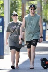 Melissa Rawson And Bryce Ruthven don't look too happy while pictured out in Darwin