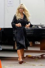 Lily James Transforms into the character of Pam Anderson for the new Hulu show 'Pam and Tommy' in Los Angeles