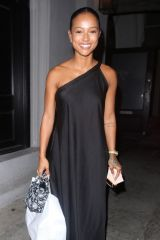 Karrueche Tran Takes home leftovers after dinner at Craig's in West Hollywood