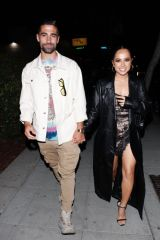 Becky G While leaving a dinner date with her boyfriend Sebastian Lletget at Delilah in West Hollywood