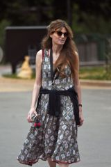 Jemima Khan Looking elegant as she stepped out in a summer dress to enjoy the hot weather in London