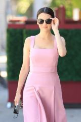 Maya Henry Stuns in a pink dress as she enjoys lunch at Matsuhisa in West Hollywood