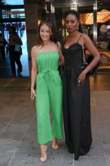 Jess Impiazzi Arrives for Premiere of The Hitman's Wife's Bodyguard at Cineworld Leicester Square in London