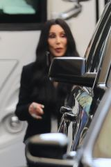 Cher Seen looking stylish in black and white while on a shoot in downtown Los Angeles